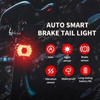 Fahrrad Hinten Licht Smart Auto Bremse Sensing Schwanz Licht LED Lade Wasserdicht Radfahren Rücklicht Fahrrad Zubehör Fahrrad Lampe