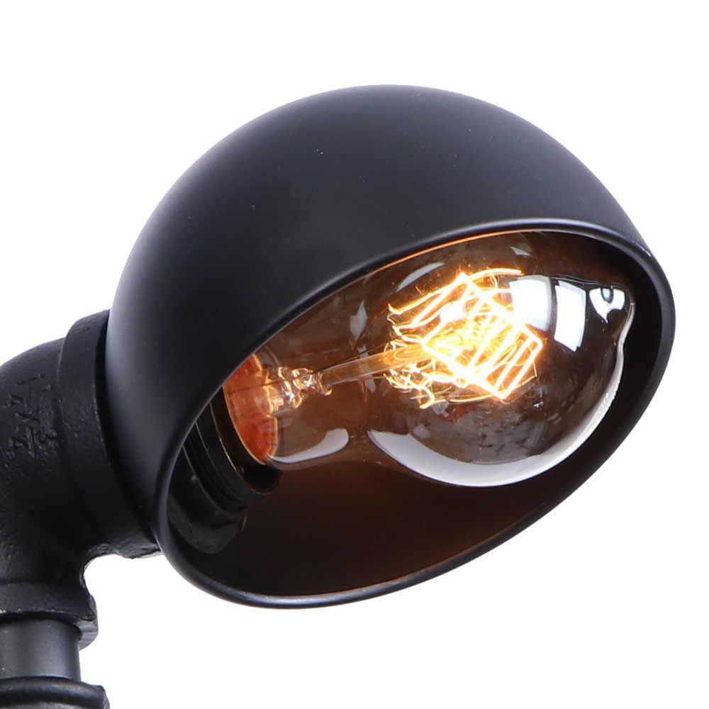 Ретро одна голова водопровод настенный светильник Лофт Декор светодиодный настенный светильник Железный Черный E27 Эдисон Настенный бра освещение в помещении светильник