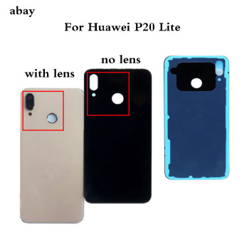 Battery Back Cover For Huawei P20 Lite Door Case For HUAWEI P20 Lite Housing Replacement + Back Camera Glass Lens Case image