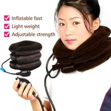 3 Layer Inflatable Air Cervical Neck Traction Device Unit Soft Brace Neck Collar for Headache Back Shoulder Neck Pain Relief цены онлайн