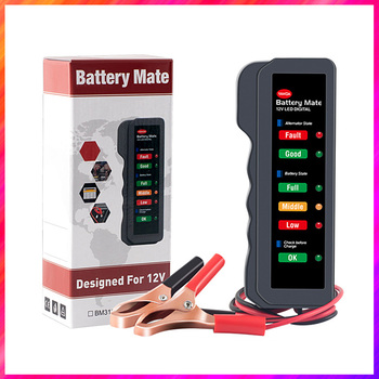 12V Car Battery Tester Universal For Volkswagen Audi Hyundai Ford BMW Kia Renault Alternator Cranking Check LCD Digital Analyzer image