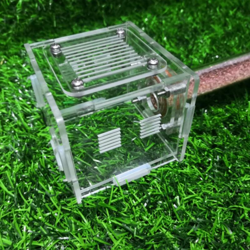 La prueba del tubo se puede utilizar como tubo de ensayo para el taller de nido de hormiga Caja de luz nocturna con combinación de luces LED de tamaño A6, caja de luz de cine con pilas AA para tarjetas de letras negras DIY