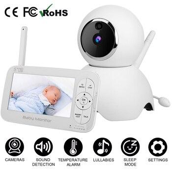 Wireless Audio Video Baby Monitor with Camera High Resolution Baby Nanny Camera Night Vision Two-Way Talkback Sleeping Monitor цена 2017
