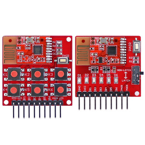 Image 1 - Kit de control remoto inalámbrico 2,4G 2,5G módulo receptor transmisor de 6 canales sin programación para bricolaje, botón de par integrado