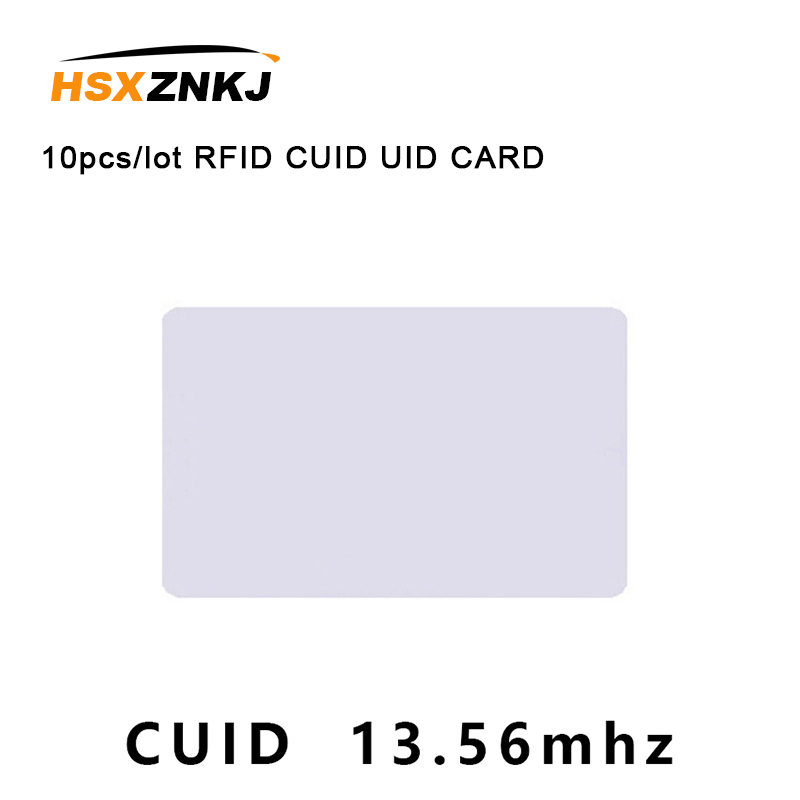 10pcs/lot RFID CUID UID CARD Modify UID Changeable NFC MF 1k S50 Card  Block 0  13.56MHz