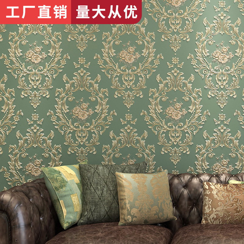 European Countryside Nonwoven Fabric Home Improvement Bedroom Living Room Wallpaper TV Backdrop Wallpaper Manufacturers Wholesal