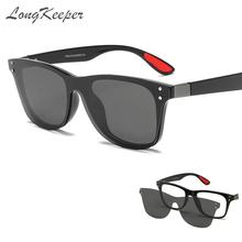 LongKeeper Double Lens Polarized Sunglasses Men Women Anti-blue