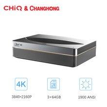 Changhong Chiq B5U 4K Laser Projector 3840*2160P Resolutie 3 + 64Gb Geheugen Android Wifi Home theater Korte Focus 4K Tv Beamer
