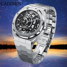 2021 CADISEN Marke Luxus männer Mechanische Automatische Uhr 100m Wasserdicht Japanischen Bewegung Skeleton Edelstahl Uhr Uhr