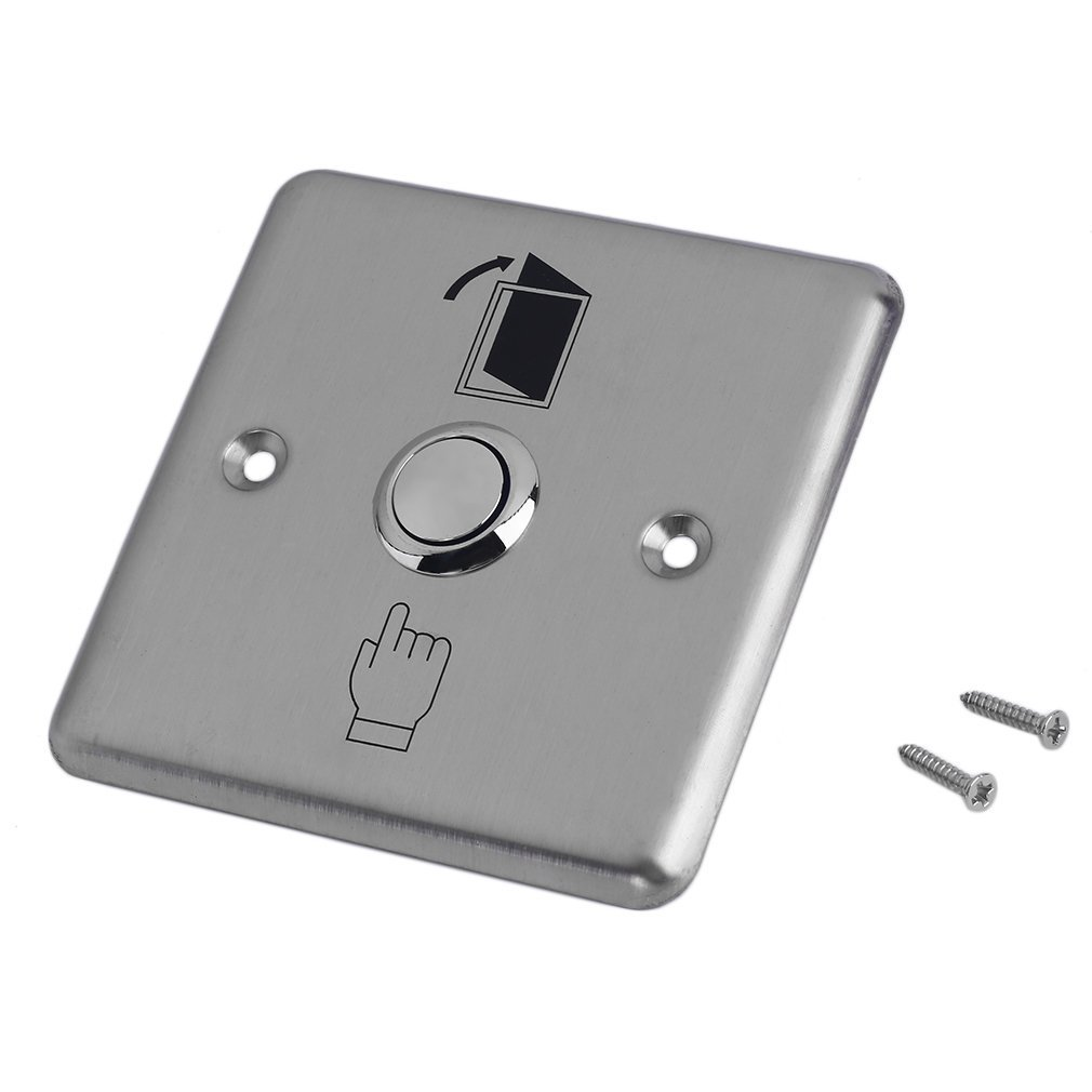 Hot Sale K14 Stainless Steel Wireless Switch Touch Panel Door Exit Push Home Release Button Access Control Gate Opener Doorbell