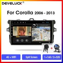 Android8.1 9 2Din car DVD 4G Wifi 4-core multimedia player GPS navigation RDS Autoradio for Toyota Corolla E140/150 2006-2013 автомобильный dvd плеер joyous kd 7 800 480 2 din 4 4 gps navi toyota rav4 4 4 dvd dual core rds wifi 3g