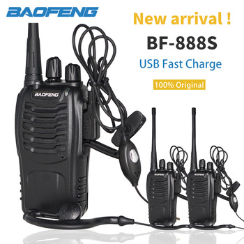 3PCS Baofeng BF888S Walkie Talkie 6KM bf-888S Two Way Radio 5W Portable CB Ham Radio BF 888S Handheld HF Transceiver Transmitter