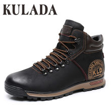 KULADA Laarzen mannen Winter Sneakers Laarzen Mode Winter Sneeuw Warme Laarzen Mannen Lace Up Ademend Schoeisel Mannen Casual Schoenen(China)