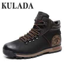 KULADA buty męskie zimowe trampki buty moda zimowe śnieg buty ocieplane mężczyźni zasznurować oddychające obuwie męskie obuwie tanie tanio Pracy i bezpieczeństwa ANKLE Stałe Dla dorosłych Pluszowe Okrągły nosek Zima Med (3 cm-5 cm) 1819-1 Lace-up Pasuje prawda na wymiar weź swój normalny rozmiar
