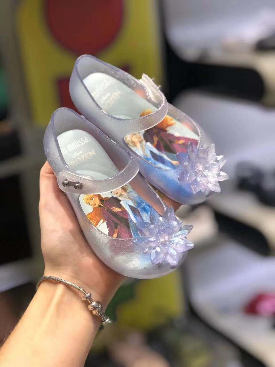 Big Size Mini Melissa Princess Jelly Shoes Kids Girl Fashion Bowknot Sandals Big Children Froze Candy Shoes SH19111