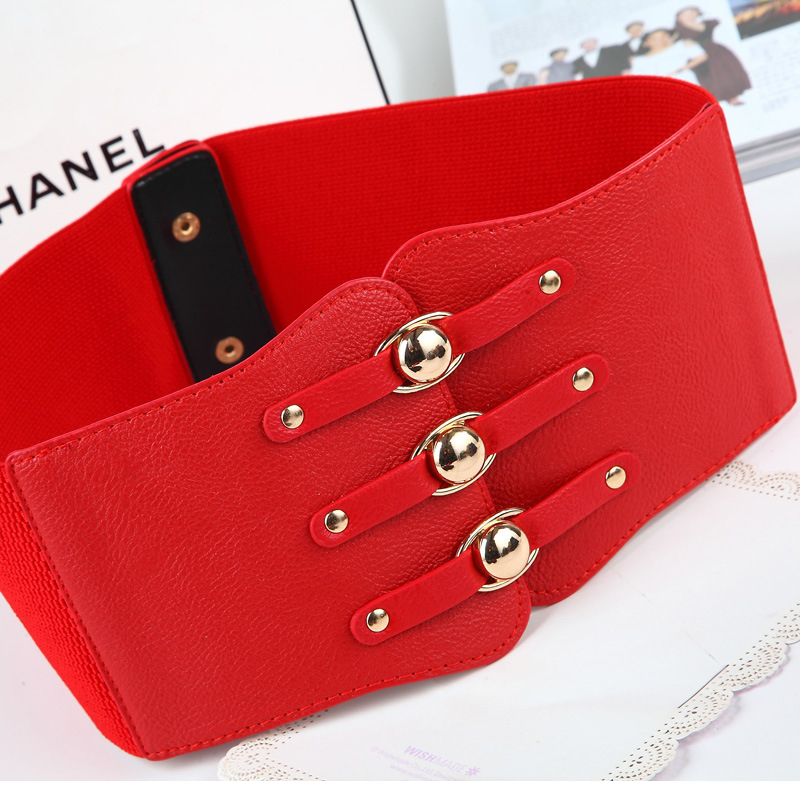 Extra Wide With Skirt Elastic Slim Elastic Belt Summer Women Belt Ladies Red Waistband Fashion Wide Simple Decorative Belt