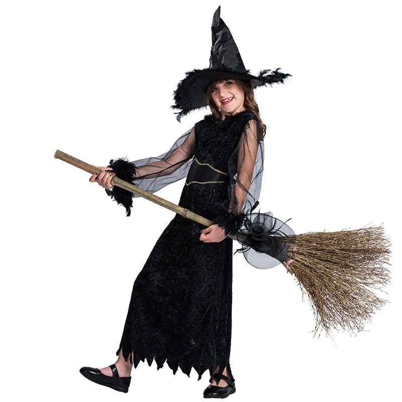 Halloween Halloween Broom Witch Set Dress