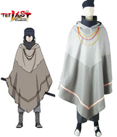 Naruto Movie The last Uchiha Sasuke Cosplay Costume Hooded Cloak Halloween Costume for Men