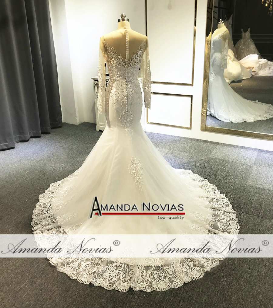 Image 2 - フォーマルドレスの花嫁人魚のレースのウェディングなスカートウェディングドレス   -