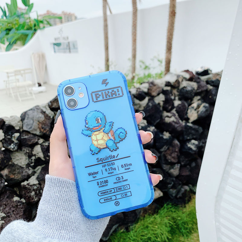 ShareEzone Fluorescent Color Cute Pokemon Cartoon Back Phone Case For iPhone 7 8 Plus X XR XS Max 11pro Max Clear Soft Backcover 4