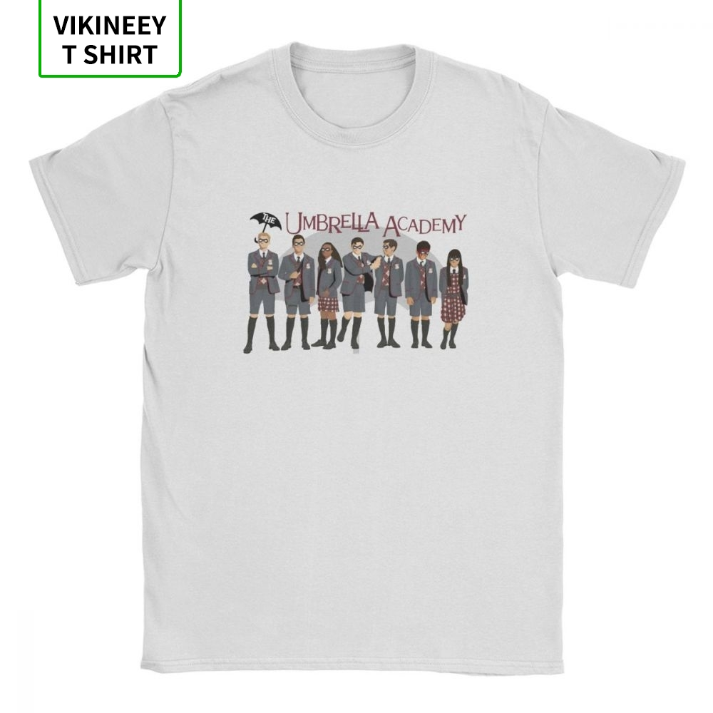 The Umbrella Academy Group T-Shirts For Men Cha Diego Vanya Luther Allison Comic Cotton Tees Short Sleeve T Shirt Gift Tops