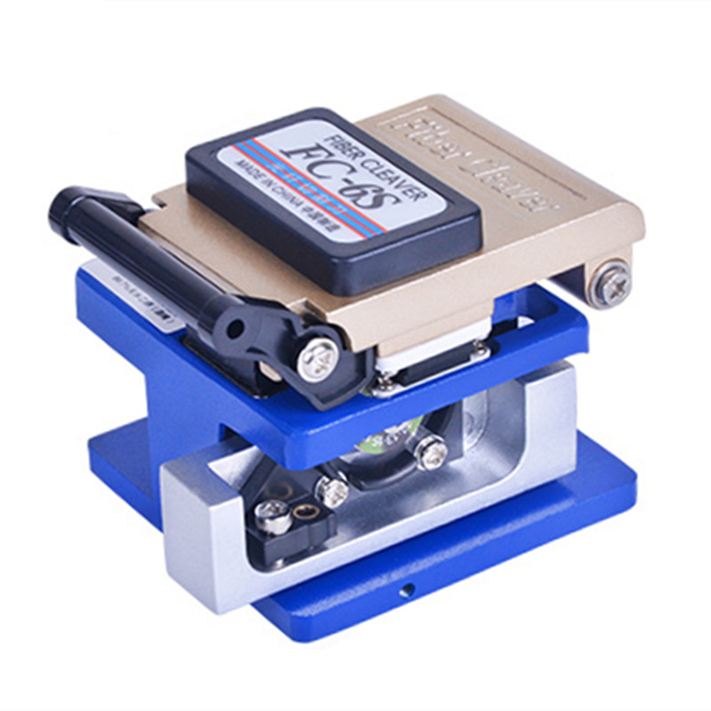 FC-6S Fiber Optic Fusion Splicer Cleaver FTTH Cold Crimping Tool Automatic Cable Fiber Optic Cutter