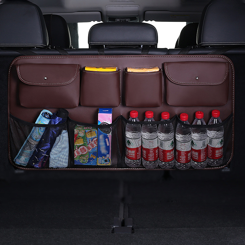 Car Rear Seat Back Storage Bag Auto Interior Tidying Interior Bale Sundries Drink Stowing Tidying Package Accessories Supplies