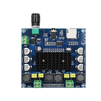 TDA7498 Bluetooth 5.0 Digital Power Amplifier Board 2*100W Dual Channel HD Stereo Audio Amplifier AMP Module Support TF Card AUX tda7498 bluetooth amplifier audio board dual channel 2x50w stereo amp digital power amplifiers support tf card aux home theater