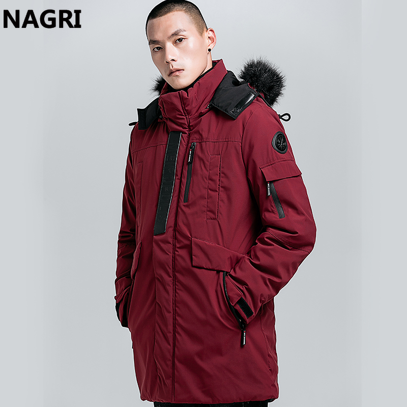 YYear Mens Winter Faux Fur Collar Warm Quilted Padded Coat Hooded Puffer Jacket Outwear