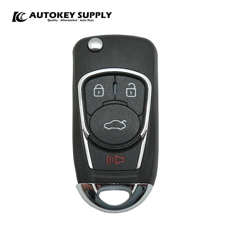 AKBPCP097 AUTOKEYSUPPLY авто-Стайлинг дистанционного ключа подать заявку на позитронная сигнализация Системы для Chevrolet 4 пуговицы двойной программа (...