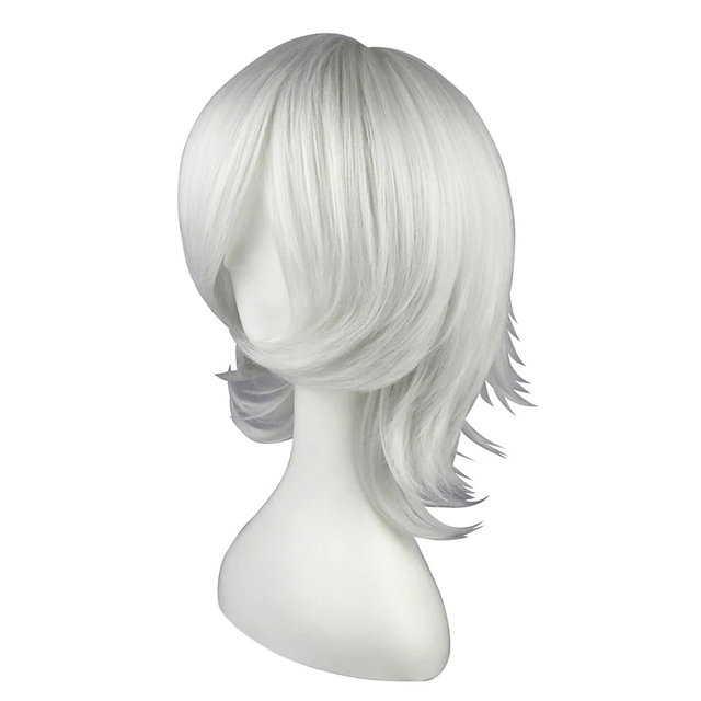 HAIRJOY  Synthetic Hair  D.Gray-Man  Allen Walker  Silver White  Cosplay Wig