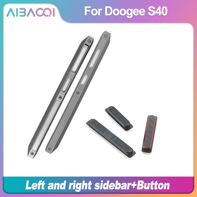New Housing A Frontal shell Middle Side Plastic Frame Housings Case Middle+Power Volume SOS Button Repair Parts For Doogee S40(China)