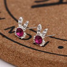 Earrings Souvenir Presents Party-Favors Diamonds Guests Valentines-Day Rabbit 1pc