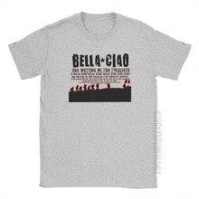 Maglietta da uomo Oh Bella Ciao maglietta da uomo Vintage Money Heist La Casa De Papel T-Shirt Basic O collo top T-Shirt in cotone House Of Paper