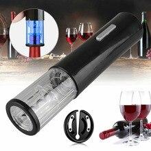 Электрический красное вино бутылка для виноградного вина штопор Автоматическая деревянная пробка экстрактор открывалка для бутылок с Бум...