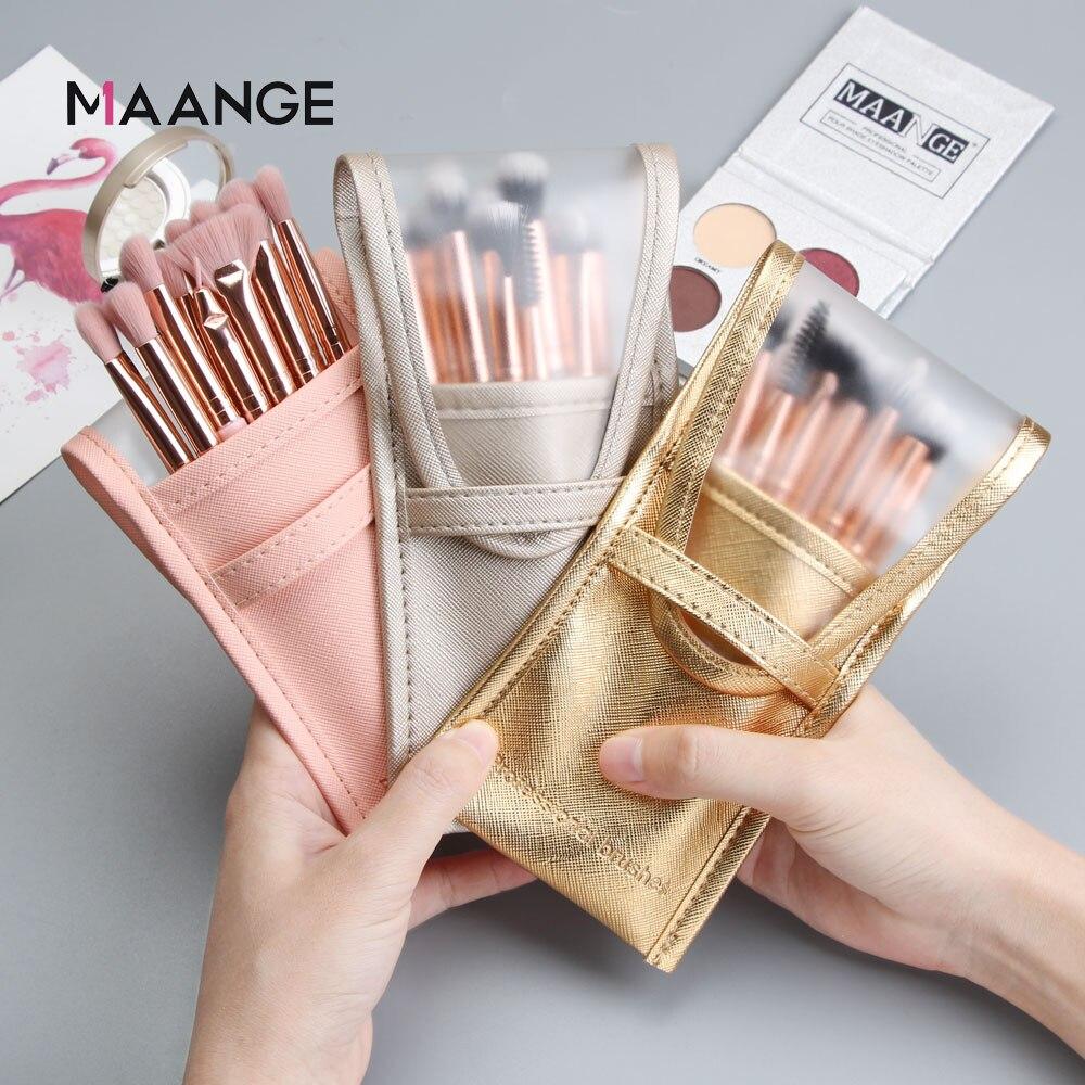 MAANGE estuche vacío para brochas de maquillaje, 1 Uds., portátil, organizador, bolsillo, bolsa de cosmética de belleza, herramientas de maquillaje, soporte para brochas|rizador de pestañas| - AliExpress