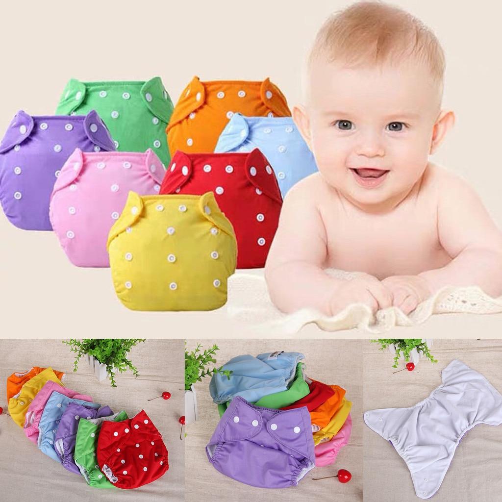 От 0 до 24 месяцев, 1 шт. подгузник для маленьких новорожденных Смешанный хлопок мультфильм печатных многоразовые подгузники регулируемый по ...