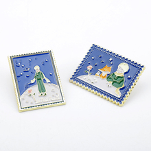 Anime The Little Prince and fox Pin Enamel Brooch Badge Backpack Jeans Clothes Lapel Pins and brooches gift kids women Jewelry the little prince brooches for women don t be a boring adult le petit prince b 612 planet fox rose fairy tale hard enamel pin