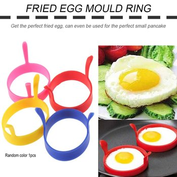1Pcs Breakfast Omelette Fried Egg Molds Food Grade Silicone Egg Ring Pancake Cooking DIY Tools Frying Egg Moulds Kitchen Gadgets image