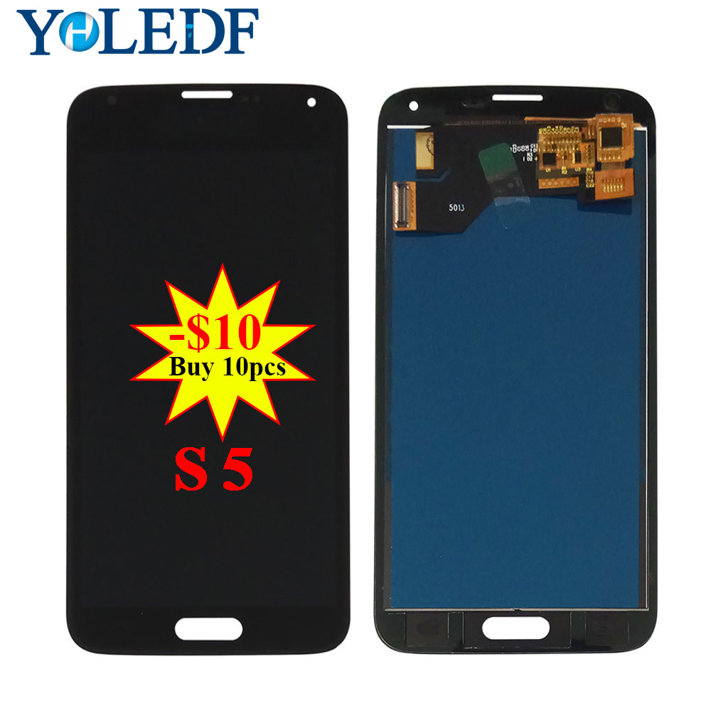 New LCD For <font><b>Samsung</b></font> S5 <font><b>G900F</b></font> <font><b>Display</b></font> LCD Screen Touch Digitizer Assembly i9600 <font><b>G900F</b></font> G900H G900M G9001 G900R G900P G900T LCDs image