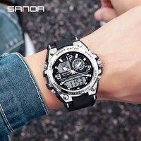 Neue 2021 SANDA Top Marke Männer Uhren 5ATM Wasserdichte Sport Military Armbanduhr Quarz Uhr Männer Uhr Mann Relogio Masculino 6024