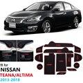 Для Nissan Teana Altima L33 2013 ~ 2018 противоскользящие резиновые ворота слот чашки коврик двери паз коврик 2014 2015 2016 2017 наклейки для автомобиля