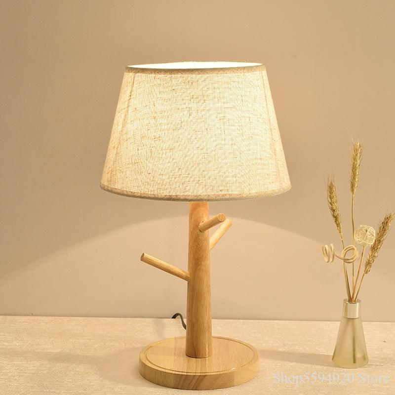 New Log Tree Branch Table Lamp Bedroom Bedside Lamp Hotel Room Led