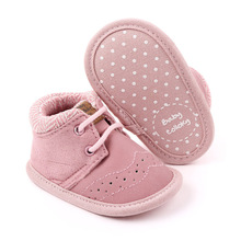 Lace-up Girl Shoes Breathable Soft Sole Kids Infant Shoes Girl Toddler Baby Shoes British Style First Walkers Non-Slip