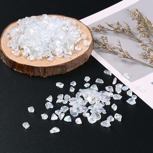 Image 4 - Cuentas de cristal para fabricación de joyas, cuentas de cristal transparentes de 0,5 7mm y 3mm, Chips de vidrio, cuentas de piedra naturales irregulares, collar de pulsera sin agujero