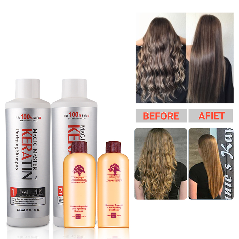 Купить с кэшбэком 120ml MMK Keratin Without Formalin Cocount Keratin Treatment Purifying Shampoo for Hair Travel Hair Care Set Curly Hair Products