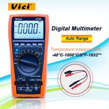 Цифровой мультиметр Vici VC99 с автоматическим диапазоном, DC/AC 20A 1000 В + Измеритель сопротивления + термометр