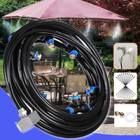 Efficient Waterpark Summer Misting Cooling System Patio With Line Brass Nozzles Garden Irrigation Sprayer Outdoor Greenhouse