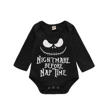 Infant Baby Long Sleeve Letters Print Rompers Kids Girls Boys Clothes Jumpsuit Newborn Clothes p