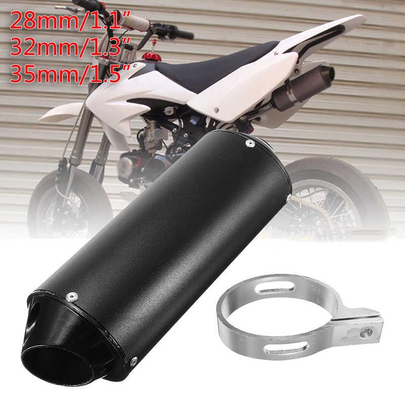 オートバイ黒マフラー排気管長 28/32/38 ミリメートルクランプダートため 50cc 110cc 125cc 耐久性のある便利なクワッド